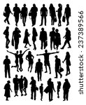 people silhouettes set | Shutterstock .eps vector #237389566
