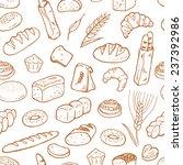 hand drawn bakery on white... | Shutterstock .eps vector #237392986
