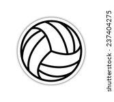 volleyball ball     black... | Shutterstock .eps vector #237404275