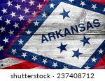 usa and arkansas state flag... | Shutterstock . vector #237408712