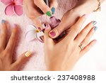 bright stylish manicure with... | Shutterstock . vector #237408988