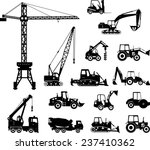 set of heavy construction... | Shutterstock .eps vector #237410362