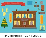 set of building elements  flat... | Shutterstock .eps vector #237415978