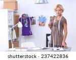 modern young fashion designer... | Shutterstock . vector #237422836