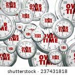 overtime word on clocks flying... | Shutterstock . vector #237431818