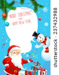 Merry Christmas Poster With...