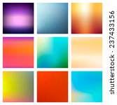 9 abstract colorful smooth... | Shutterstock .eps vector #237433156