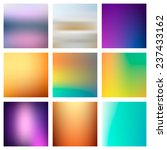 9 abstract colorful smooth... | Shutterstock .eps vector #237433162
