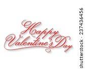 happy valentine's day lettering | Shutterstock .eps vector #237436456