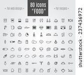icons food and equipment