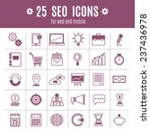 icons seo | Shutterstock .eps vector #237436978