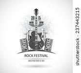 rock festival stamp | Shutterstock .eps vector #237443215