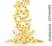 falling gold coins illustration | Shutterstock .eps vector #237444355