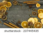 dried dessert spices and golden ... | Shutterstock . vector #237445435