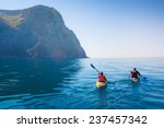 kayaking in the sea from back... | Shutterstock . vector #237457342