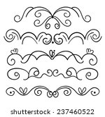 set of page decoration line... | Shutterstock .eps vector #237460522