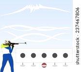 biathlete at the shooting range.   Shutterstock .eps vector #237467806