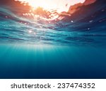 Stock photo underwater view of the sea surface 237474352