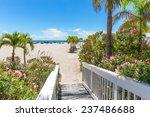 Boardwalk On Beach In St. Pete  ...