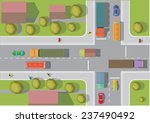 crossroads in the town. top... | Shutterstock .eps vector #237490492