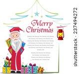 santa frame   christmas card ...   Shutterstock .eps vector #237494272