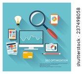 illustration of seo concept in...   Shutterstock .eps vector #237498058