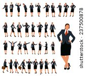 set of business woman in... | Shutterstock .eps vector #237500878