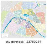 map of paris france   all... | Shutterstock .eps vector #23750299