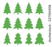 Christmas Trees. Vector...