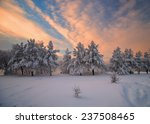 Sunset At The River Angara In...