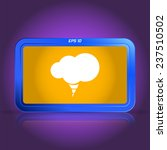 icon cloud. specular reflection.... | Shutterstock .eps vector #237510502