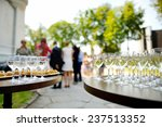 lots of wine glasses during... | Shutterstock . vector #237513352