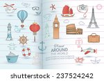 travel card. | Shutterstock .eps vector #237524242