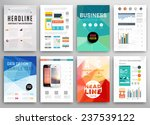 set of flyer  brochure design...   Shutterstock .eps vector #237539122