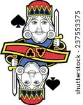 stylized king of spades without ... | Shutterstock .eps vector #237553375