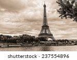 vintage photo of tour eiffel ...   Shutterstock . vector #237554896