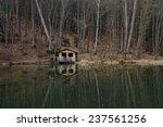 Mountain Cabin In Reflection