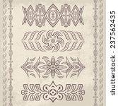 set of vector decorative... | Shutterstock .eps vector #237562435