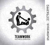 teamwork design over white... | Shutterstock .eps vector #237563992