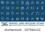 travel icons vector set  great... | Shutterstock .eps vector #237566122