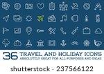 travel icons vector set  great... | Shutterstock .eps vector #237566122