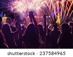new year concept   cheering... | Shutterstock . vector #237584965