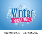 winter special offers word with ... | Shutterstock .eps vector #237585706