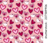 seamless pattern with different ... | Shutterstock .eps vector #237589906