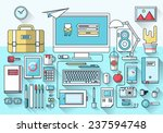 modern creative office... | Shutterstock .eps vector #237594748