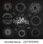 set light ray in vintage style... | Shutterstock .eps vector #237595492