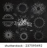 set light ray in vintage style... | Shutterstock .eps vector #237595492