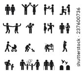 vector family icons. set of ... | Shutterstock .eps vector #237600736