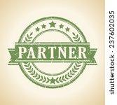 partner stamp | Shutterstock .eps vector #237602035