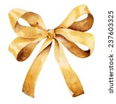 graceful golden bow isolated on ... | Shutterstock . vector #237603325